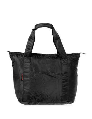 Air Canada Packable Carry-On Travel Tote Bag-BLACK-One Size