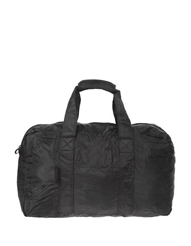 Air Canada Packable Fold-Away Travel Duffel Bag-BLACK-One Size