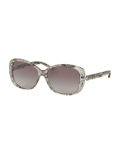 Tory Burch 0TY7090 56mm Rectangular Sunglasses-CLEAR-One Size