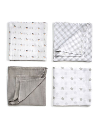 Gund Golly 4-Pack Swaddle Blankets-GOLLY GREY-One Size
