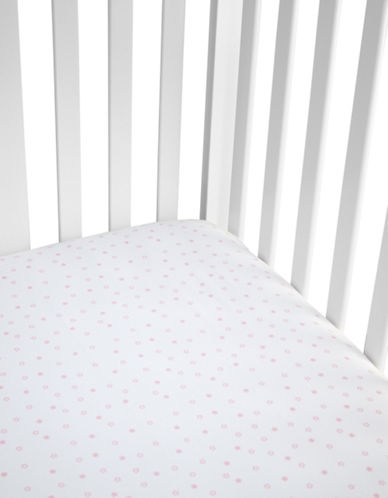 Gund Starry Night Deluxe Crib Sheet-POPSICLE PINK STARRY NIGHT-One Size