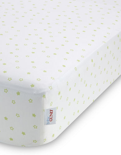 Gund Starry Night Deluxe Crib Sheet-PISTACHIO STARRY NIGHT-One Size