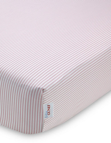 Gund Striped Deluxe Crib Sheet-POPSICLE PINK STRIPES-One Size