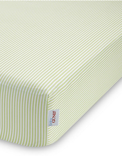 Gund Striped Deluxe Crib Sheet-PISTACHIO STRIPES-One Size