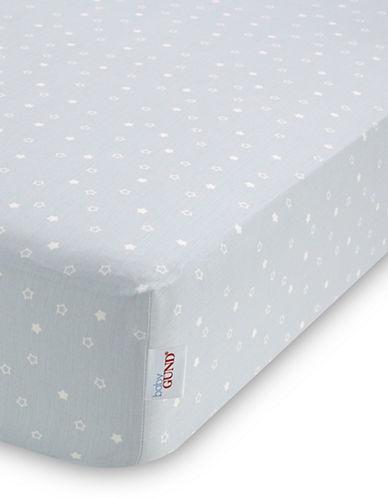 Gund Twinkle Twinkle Deluxe Crib Sheet-PEEK A BLUE TWINKLE-One Size