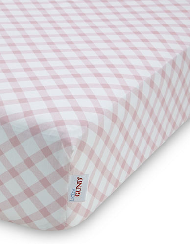 Gund Picnic Plaid Deluxe Crib Sheet-POPSICLE PINK PLAID-One Size