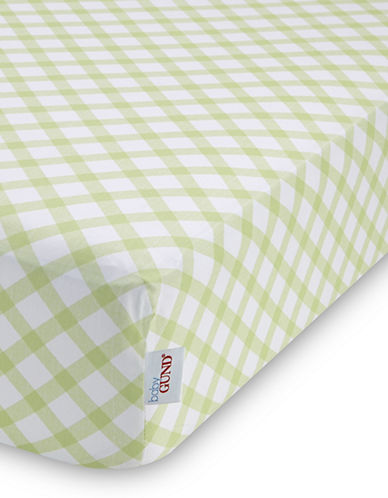 Gund Picnic Plaid Deluxe Crib Sheet-PISTACHIO PLAID-One Size