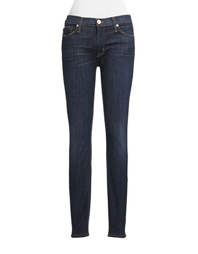 Hudson Jeans Mid Rise Stretch Skinny Jeans-BLUE-24