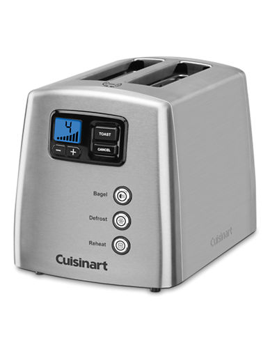 Cuisinart Countdown Lever-less 2-Slice Toaster-SILVER-One Size