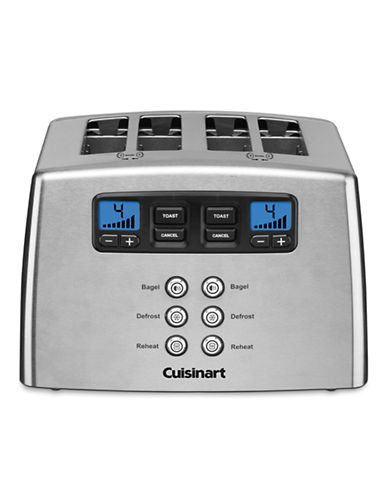 Cuisinart Countdown Lever-less 4-Slice Toaster-STAINLESS-One Size
