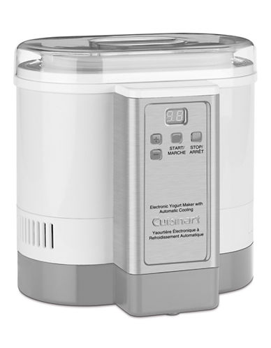 Cuisinart Electronic Yogurt Maker with Automatic Cooling-WHITE-One Size