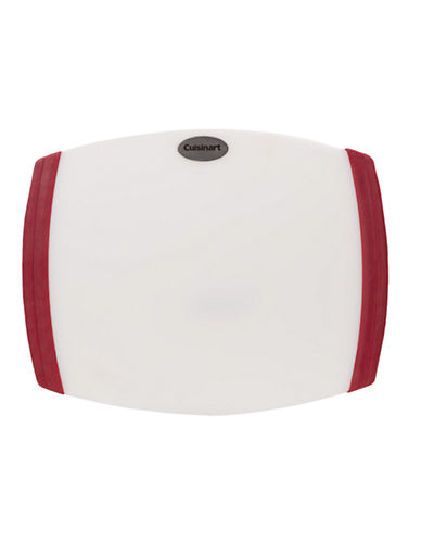 Cuisinart 8 Inchx11 Inch Non-Slip Poly Cutting Board-WHITE/RED-One Size