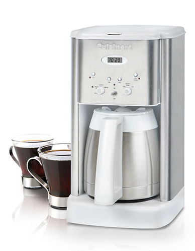 Cuisinart Brew Central 10 Cup Programmable Coffeemaker-WHITE AND SILVER-One Size