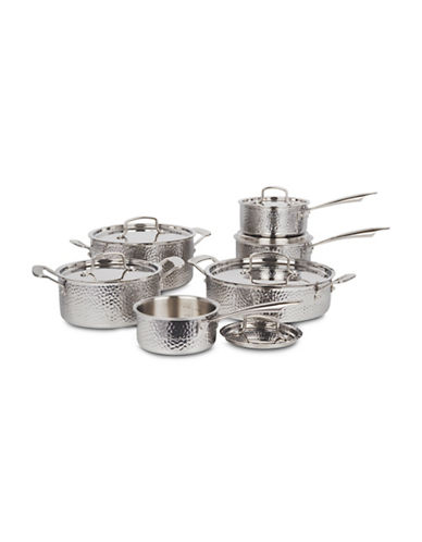 Cuisinart 18/10 Stainless Steel Hand-Hammered 12-Piece Cookware Set - Induction Ready-STAINLESS STEEL-One Size
