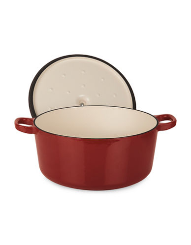 Cuisinart 4.4qt Cast Iron Casserole with Lid-RED-One Size