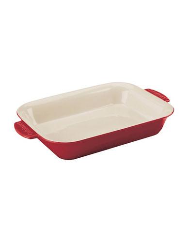 Cuisinart 4qt Rectangular Ceramic Baker-RED-4QT