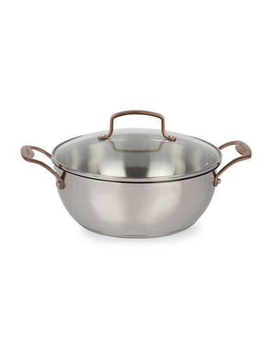 Cuisinart 5 Quart Stainless Steel Casserole-STAINLESS STEEL-5.3L