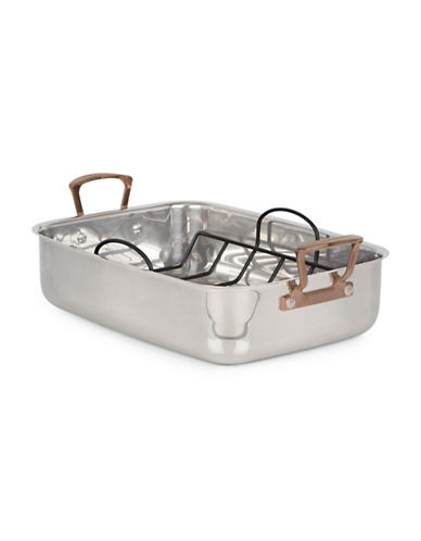 Cuisinart Metal Expressions Stainless Steel Roaster with Non-Stick V-rack-STAINLESS STEEL-15
