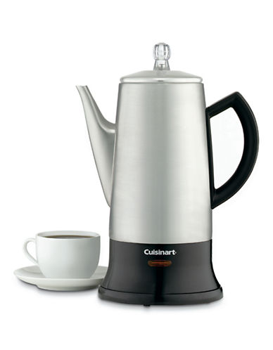 Cuisinart Classic Cordless Percolator 4 to 12 Cup Capacity-SILVER-One Size