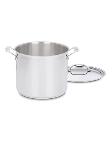 Cuisinart 16 Qt Stainless Steel Stockpot with Cover-SILVER-16