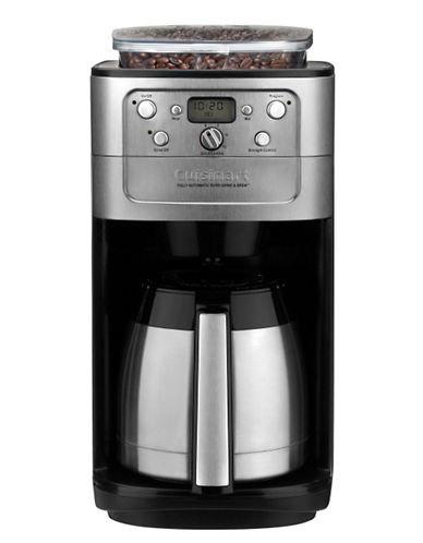 Cuisinart Fully Automatic Burr Grind and BrewTM Thermal 12 Cup Coffeemaker-BRUSHED STAINLESS STEEL-One Size 64605074_BRUSHED STAINLESS STEEL_One Size