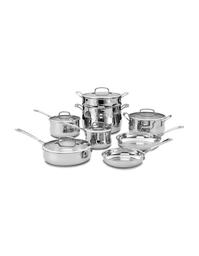 Cuisinart 13-Piece Contour Stainless Steel Cookware Set-STAINLESS STEEL-One Size