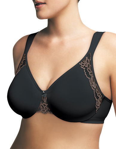 Wonderbra 1983 No Poke Underwire Bra-BLACK-46D