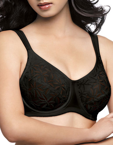 Wonderbra Unique FLEX-FRAME  Stretch Lining Bra-BLACK-38C