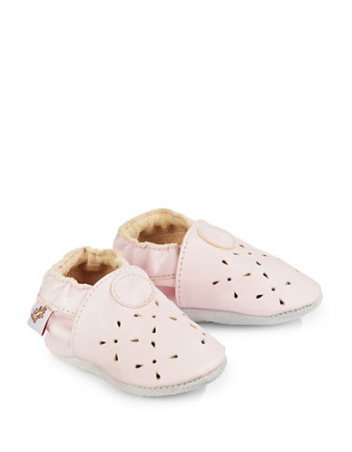 Tickle Toes Piglet Soft Leather Shoes-PINK-0-6 Months