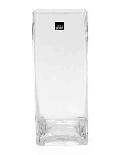 Home Outfitters Glass Rectangle Vase-NO COLOUR-One Size