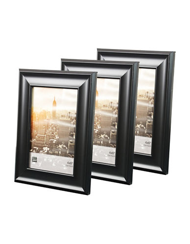 Home Outfitters Three-Pack 4 x 6 Gallery Frames-BLACK-One Size