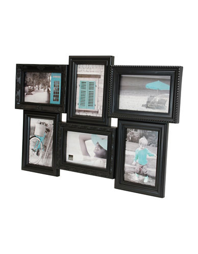 Home Outfitters Kiera Grace Vienna Six Image Collage Frame-BLACK-One Size
