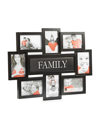 Home Outfitters Eight-Photo Collage Frame-BLACK-One Size