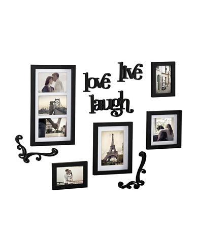 Kiera Grace Haus 10-Piece Decorative Wall Frame Set-BLACK-One Size