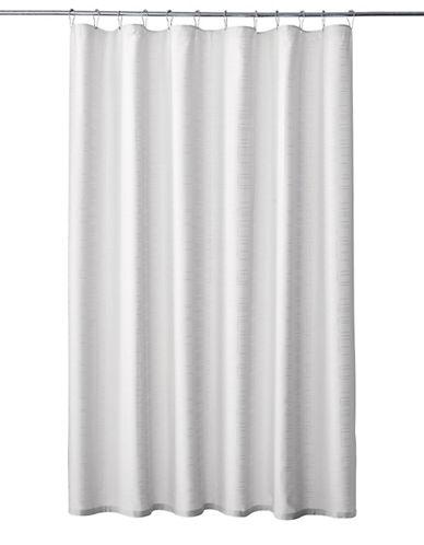 Glucksteinhome Geo-Print Shower Curtain-WHITE-One Size