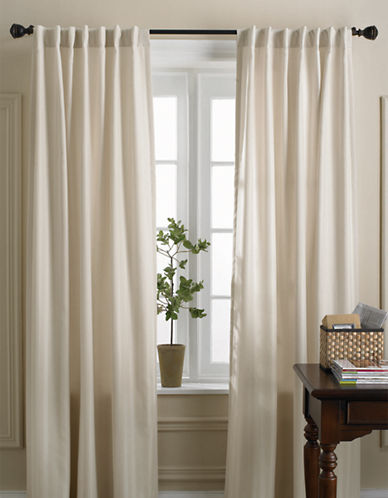 Home Studio Damask Striped Drapes-IVORY-95 inches