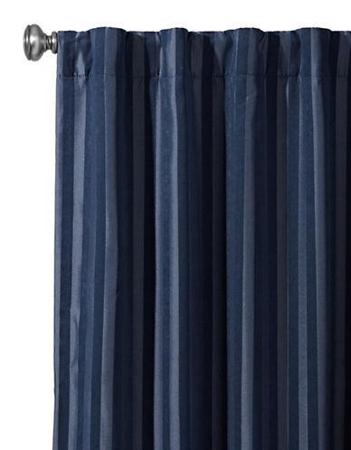 Home Studio Damask Striped Drapes-DARK NAVY-95 inches