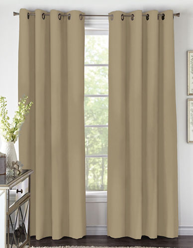 Home Studio 84-Inch Amara Grommet Drape-TAUPE-95 inches