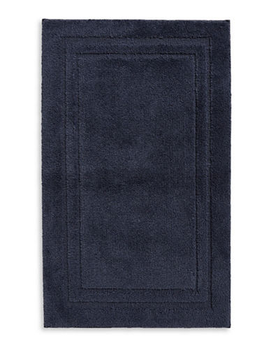 Home Studio Rectangular Imprint Nylon Bath Rug-NAVY-One Size