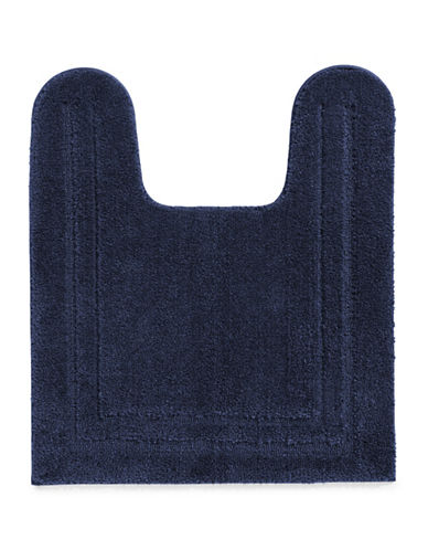 Home Studio Plush Nylon Contour Bath Rug-NAVY-One Size