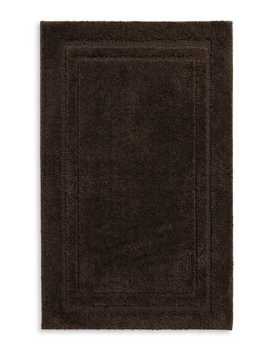 Home Studio Rectangular Imprint Nylon Bath Rug-BROWN-One Size