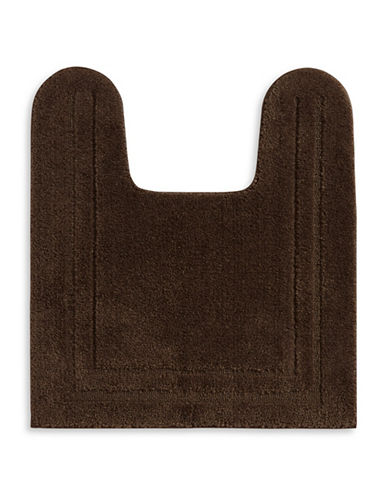 Home Studio Plush Nylon Contour Bath Rug-BROWN-One Size