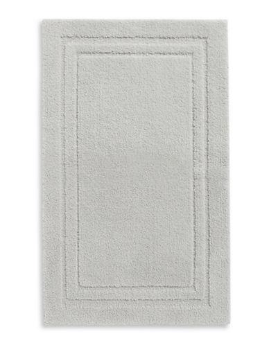 Home Studio Rectangular Imprint Nylon Bath Rug-SILVER-One Size