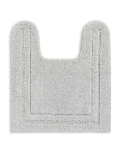 Home Studio Plush Nylon Contour Bath Rug-SILVER-One Size