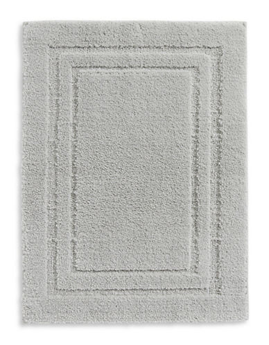 Home Studio Rectangular Pattern Nylon Bath Rug-SILVER-One Size