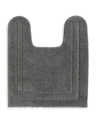 Home Studio Plush Nylon Contour Bath Rug-CHARCOAL-One Size