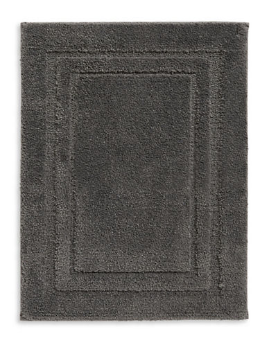 Home Studio Rectangular Pattern Nylon Bath Rug-CHARCOAL-One Size