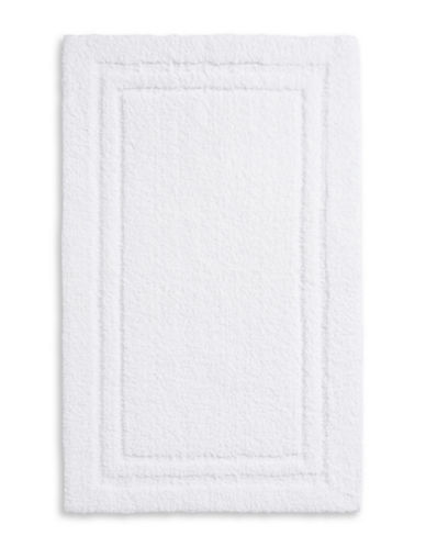Home Studio Rectangular Imprint Nylon Bath Rug-WHITE-One Size