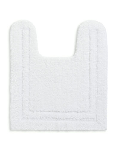 Home Studio Plush Nylon Contour Bath Rug-WHITE-One Size