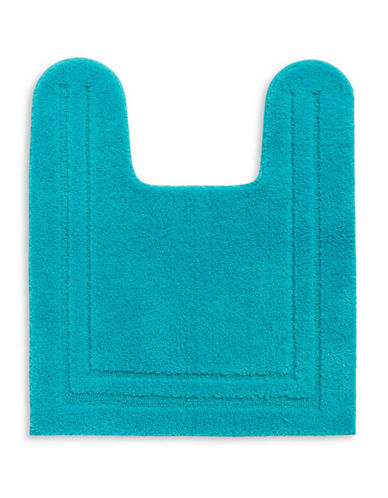 Home Studio Plush Nylon Contour Bath Rug-AQUA-One Size